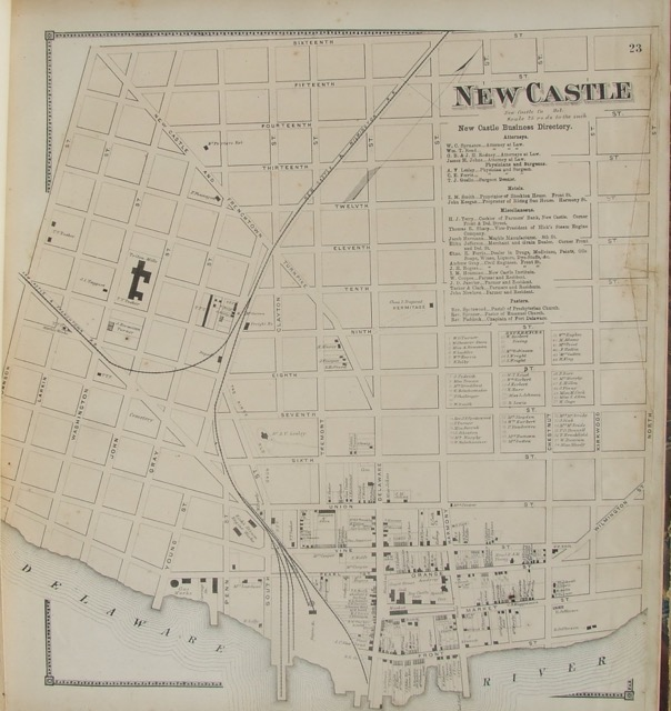 New Castle Street Map