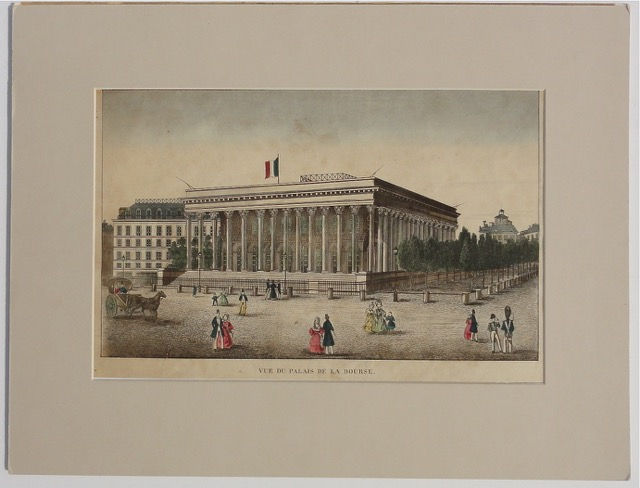 Paris Stock Exchange, La Bourse, 1825