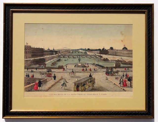 Paris on Seine & Pont Neuf, 1785