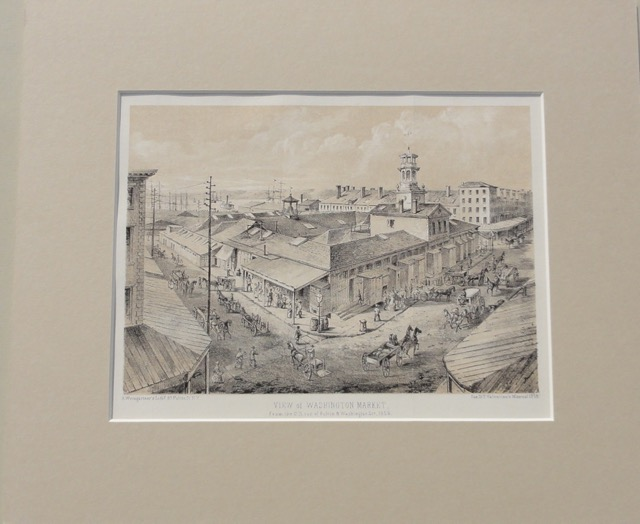 Manhattan: Washington Market at Fulton Street, c. 1861