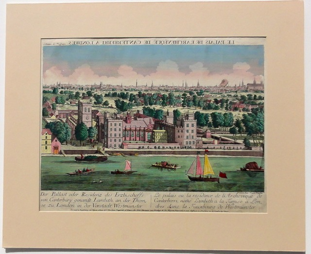 London, Vue d\'Optique, 1750