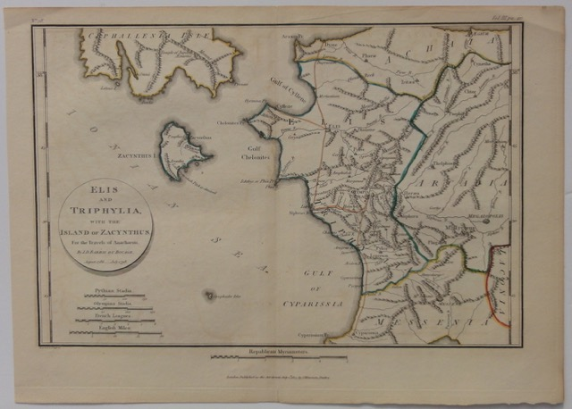 Greece: Elis, Triphylia & Island of Zacynthus, 1791