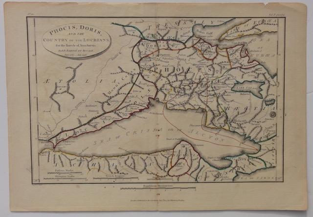 Greece: Phocis, Doris & Country of Locrians, 1791