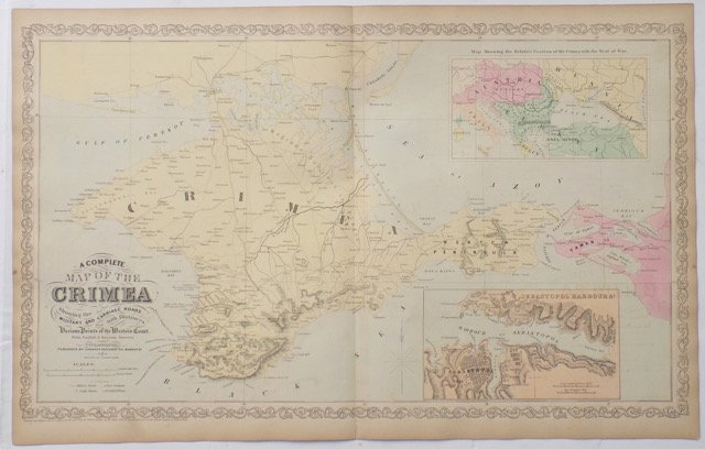 Crimean Map (Sebastopol Harbor) by DeSilver, 1856