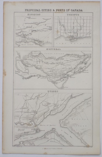 Cities & Ports of Canada, c. 1830