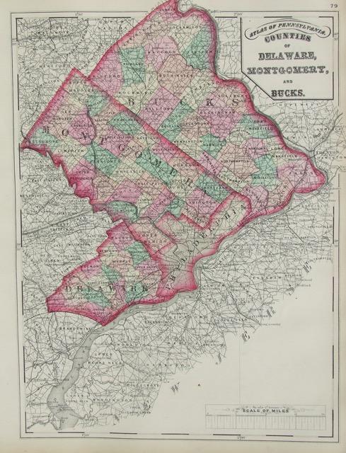 Delaware, Montgomery, Bucks
