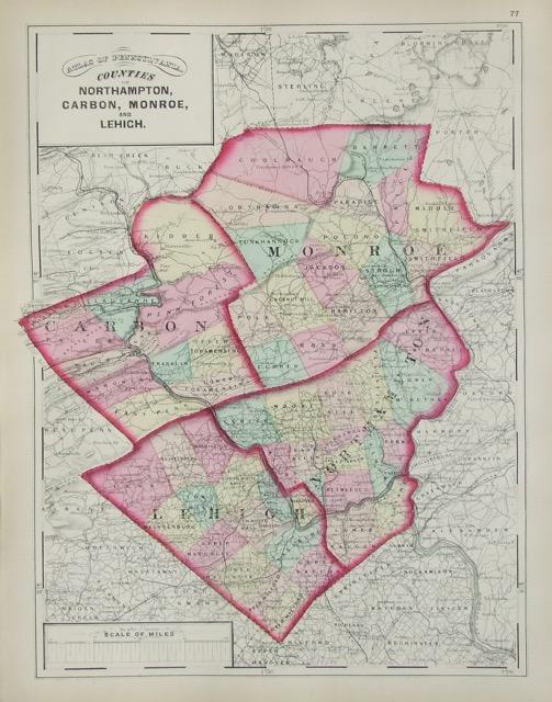 Northampton, Carbon, Monroe, Lehigh