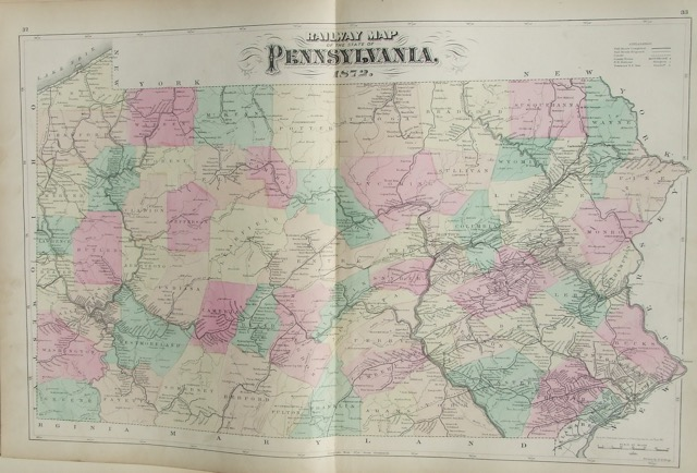 Railway Map of Pennsylvania