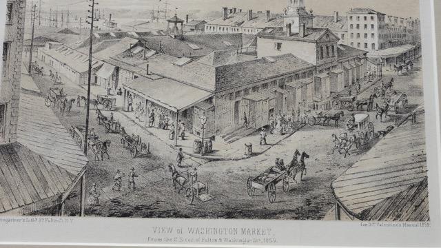 Manhattan: Washington Market at Fulton Street, c. 1861
