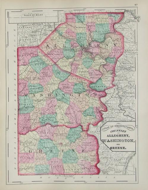 Allegheny, Washington, and Greene