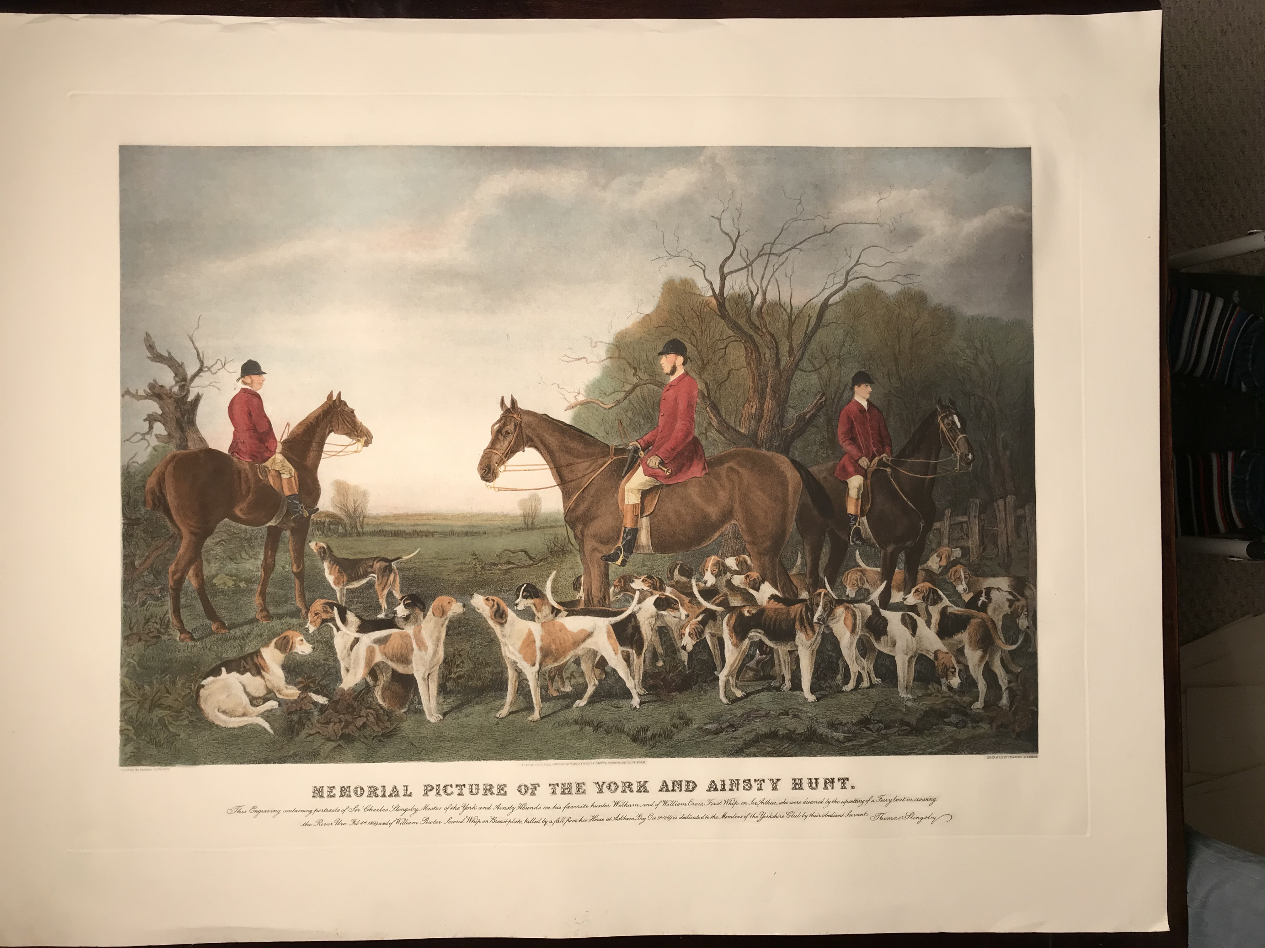 Memorial Picture of the York and Ainsty Hunt